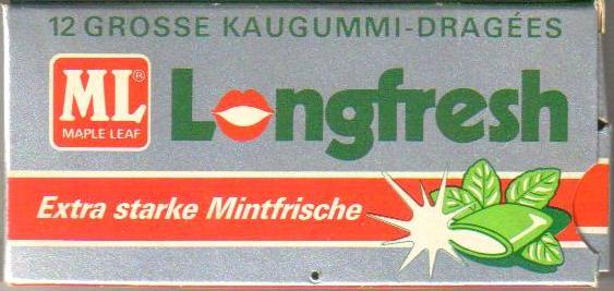 Kaugummi- Longfresch